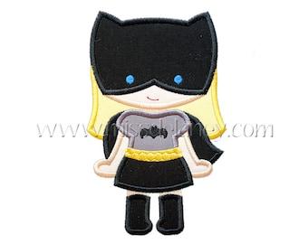 Bat Girl 2 Applique Design