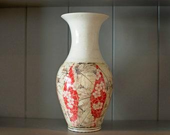 Argyle Floral Leaf Vase