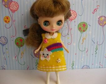 Rainbow Star Dress (Yellow)