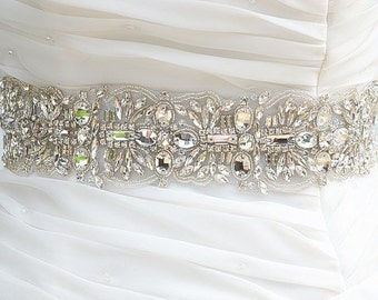 BELLA SWARVOSKI wedding crystal sash, belt