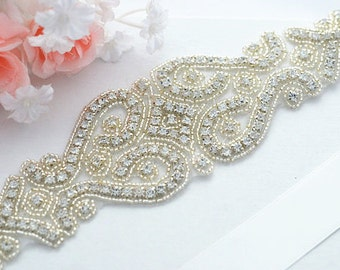 SALE KATHRYN wedding crystal sash , belt