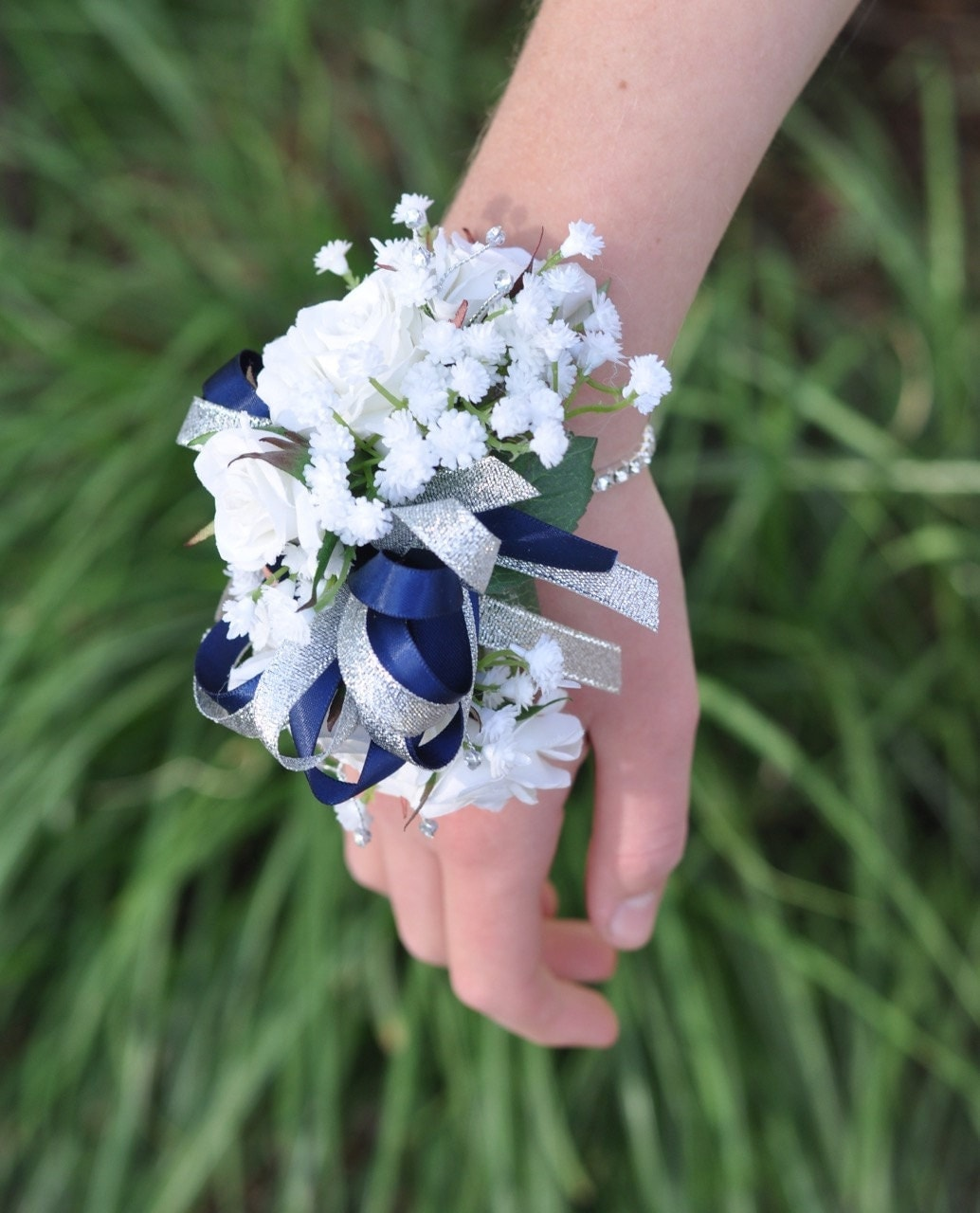 Wedding Corsage Prom Corsage White Sweetheart Rose Baby