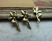 100pcs 8x19mm The Angel   Antique Bronze Retro Pendant Charm For Jewelry Bracelet Necklace Charms Pendants C6895