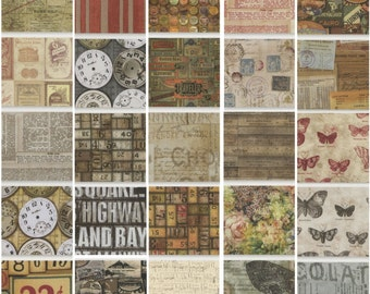 Eclectic Elements fat quarters by Tim Holtz for Coats fabric