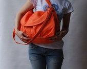 NEW YEAR SALE 30% - Fortuner in Orange (Water Resistant) Purse / Laptop / Shoulder bag / Messenger Bag / Handbag / Wallet / Diaper Bag / Hob