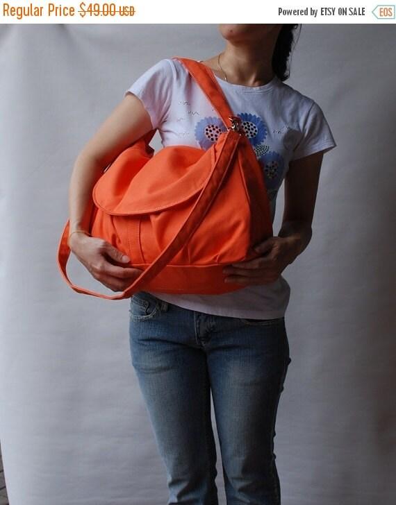 NEW YEAR SALE 30% - Fortuner in Orange (Water Resistant) Purse / Laptop / Shoulder bag / Messenger Bag / Handbag / Wallet / Diaper Bag / Hob