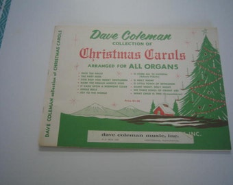 Christmas Carols Dave Coleman Collection Arranged for All Organs Vintage Music
