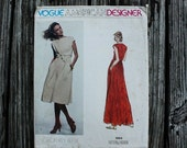 25% Pattern Sale Vogue American Designer Geoffrey Beene 1664 1970s 70s Bias Tie Dress Vintage Sewing Pattern Size 10 Bust 32.5