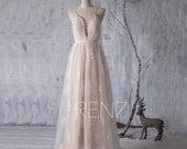 2016 White Beige Bridesmaid dress, Long Wedding dress, Sweetheart Hollow Bridal dress, Flower Mesh Prom dress Backless floor length (LW088)
