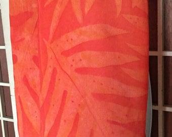 Beautiful Hawaiian silk shawl wrap scarf with lauae print