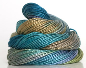Size 10, hand dyed tatting thread, crochet cotton, crochet thread, embroidery thread, tatting cotton, rainbow, beading thread