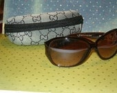 Vintage Gucci Sunglasses, Never Worn, Case Included, Zipper Case, All marked, Gucci Logo, Made in Italy, #30445 65 14-130 c002