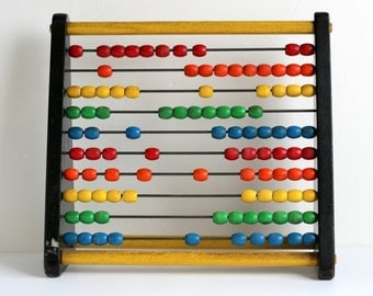 Holgate Counting Frame Vintage 1960s Abacus Wood Toy