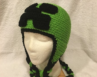 Crochet Minecraft Inspired Beanie/Hat