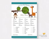 Baby Shower Are You My Mother Game Cards (Instant Download/Printable) - Monkey Boy Oh Boy (Style 13008)