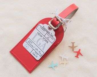 Wedding Favors - Airport Code Escort Card - Write in your Own Mini Favor Tag