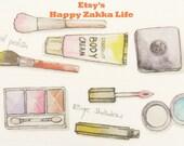 Make-up - Fetishism Series - Japanese Washi Masking Tape - 30mm Wide - 7.6 yards