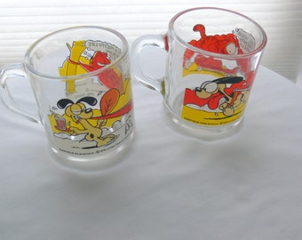 garfield clear mugs