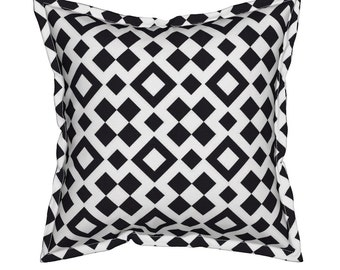 Black and White Pillow, Geometric Throw Pillows, Decorative Throw Pillows, Unique Throw Pillows, Geometric Cushions, Couch Pillows, Pillow