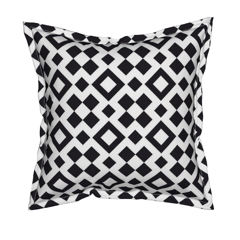 Black And White Geometric Throw Pillows : Black and White Pillow Geometric Throw Pillows Decorative