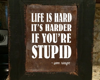 John Wayne Quote Life Is Hard Amazing John Wayne Quote Pendant Life Is Hardit's Even