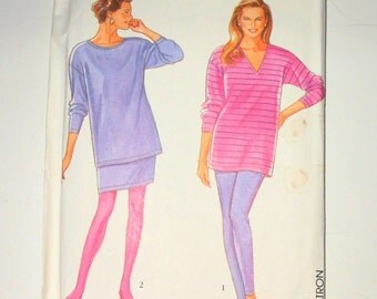 Vintage Simplicity 1992 Misses It's So Easy Pants Skirt And Tunic UNCUT Size PT-S-M-L-XL Pattern Number 7949