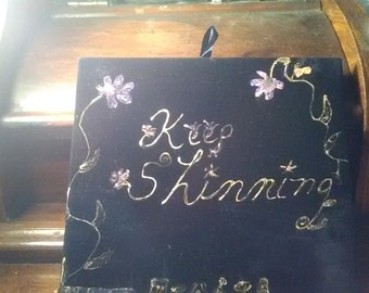 Keep Shinning Poetry Canvas