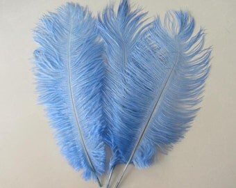 Pale Blue Sky blue Ostrich feather wedding centerpiece