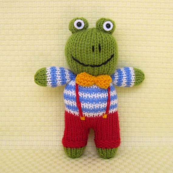 Knitting Patterns For Toys On Etsy : Cow, elephant, frog, dog - 4 toy animal doll knitting patterns - PDF INSTANT ...