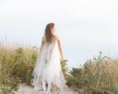 Fairy Bohemian Wedding Dress, Ghost Dress, Beach Princess, Moon Maiden, Made To Order