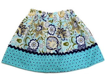 Boutique Girls Skirt Large Floral Song Bird Sizes 6 - 12 months, 12-18 months, 2 / 3, 4 / 5, 6 / 7, 8 / 9