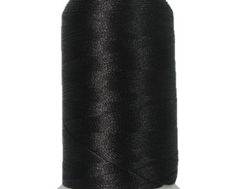 No. 102 (Black) 1000m Polyester Spool of Embroidery Machine Thread