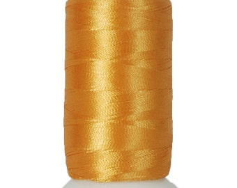 No. 124 (Old Gold) 1000m Polyester Spool of Embroidery Machine Thread