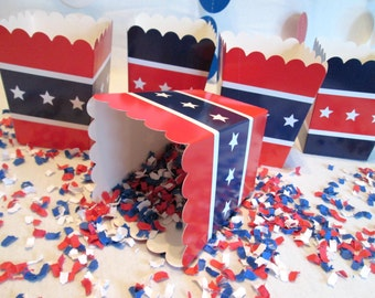 4th of July Favors July 4th Favor Boxes July 4th Boxes Fourth of July Favors Red White & Blue Favors Nautical Favors Birthday Party Boxes