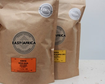 GIFT PACK East Africa Collection Freshly Roasted Coffee Beans 4 x 100g bags
