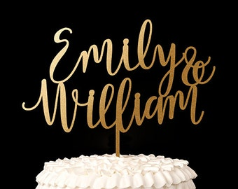 Custom First Name Wedding Cake Topper - Blissful Collection