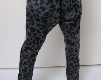 60-70cm BJD Grey Leopard Print Harem Pants