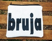 bruja zippered pouch