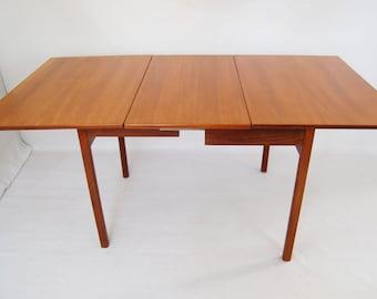 SALE: Danish Modern Teak Drop Leaf Dining Table