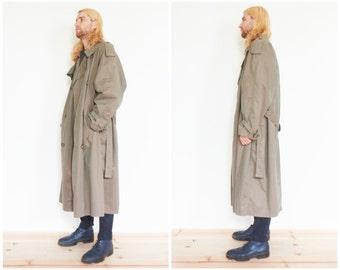 90s Armani Collezioni Iridescent Trench Coat / Raincoat Jacket