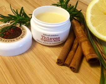 Wellness Balm (Thieves Organic Balm) - A Wellness Blend Created in the 15th Century (Warming, Pain Relief, Moisturizing, Natural Sanitizer)