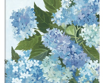iCanvas Decorative Hydrangea I Gallery Wrapped Canvas Art Print by Katherine Lovell