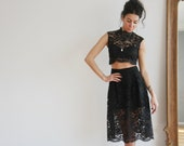 Lace Top and Skirt Separate Little Black Dress