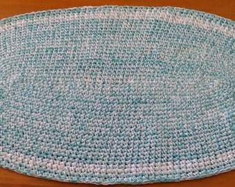 Crochet Rug, Oval Rug, Rug, Kitchen Rug, Bathroom Rug, Bedside Rug, Crochet Rugs, Oval Rugs, Rugs, Kitchen Rugs, Blue and White Rugs,