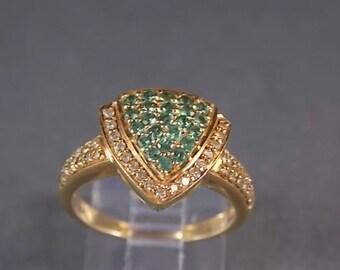 Tsasvorte and Diamond Ring 1.06Ctw Rose Gold 14K 5.7gm Size 7.25 Custom Design