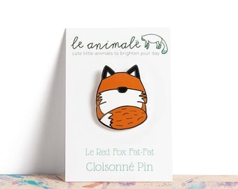 Fox Pin, Kawaiiness, Cute Pins, Pin Game, Animal Pins, Small Gifts for Friends, Red Fox, Fox Gifts, Enamel Pins, Hard Enamel, Fox Stuff