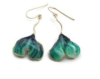 Ginko leaf earrings. Ginko earrings. Oak leaf earrings. Oak leaf jewelry. Jewelry shops.