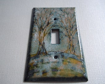 Rustic Tree Switchplate