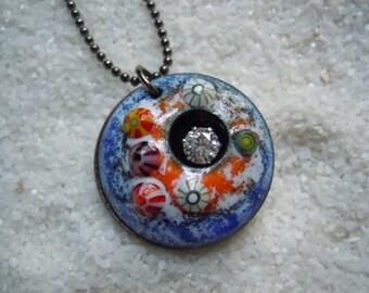 Barnacle Ocean Sea Marine Necklace | Artisan Jewelry | Enamel Jewelry