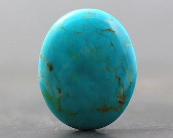 Turquoise Stone, Natural Gemstone, USA Specimen - Beading Jewelry Crafting - Blue Green Jewelry Pendant Focal Beads (CA6028)